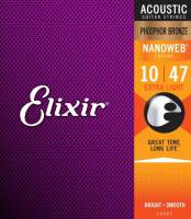 ELIXIR 16002 PHOSPHOR BRONZE EXTRA LIGHT(10-47) NW
