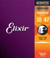 ELIXIR 16152 12 STRING PHOSPHOR BRONZE LIGHT 10-47 NW