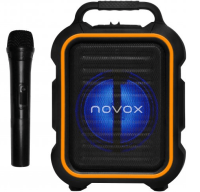 NOVOX MOBILITE ORANGE KOLUMNA AKTYWNA USB MP3 BT AKU MIC