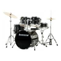 LUDWIG ACCENT DRIVE Z TALERZAMI I HARDWARE LC175 BLACK