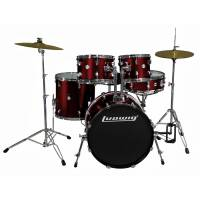 LUDWIG ACCENT DRIVE Z TALERZAMI I HARDWARE LC175 RED